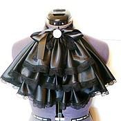 Аксессуары handmade. Livemaster - original item Frill satin black. Handmade.