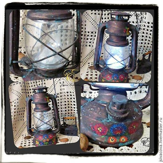 Освещение ручной работы. Ярмарка Мастеров - ручная работа. Купить Лампа керосиновая настольная,,Бабушкина лампа,,. Handmade. Керосиновая лампа