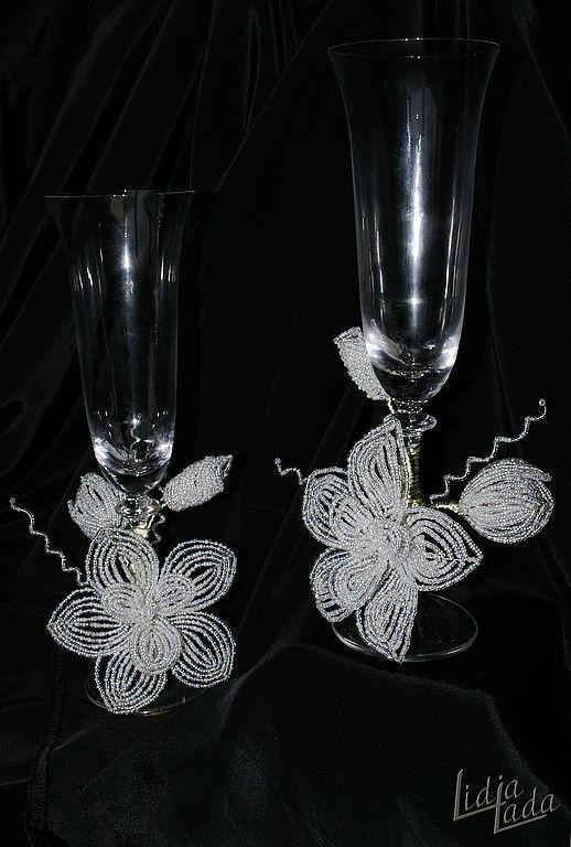 """Свадебные бокалы """"Сказочная орхидея"""", Бокалы свадебные, Львов,  Фото №1"""