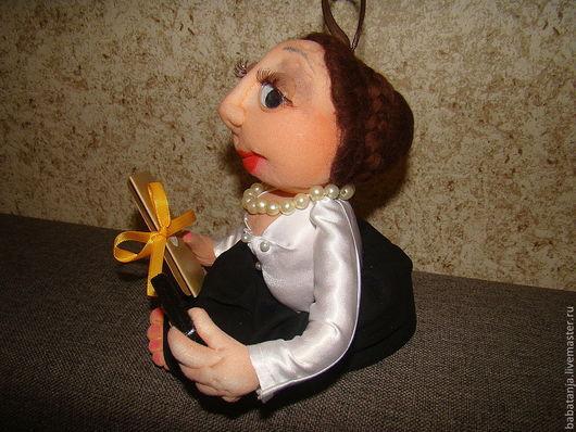 """Человечки ручной работы. Ярмарка Мастеров - ручная работа. Купить Кукла - попик из капрона  """"ответственный бухгалтер"""". Handmade. Кукла-попик"""