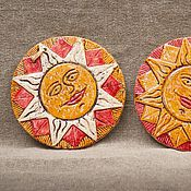 """Для дома и интерьера ручной работы. Ярмарка Мастеров - ручная работа Плакетка """"Солнце"""". Handmade."""