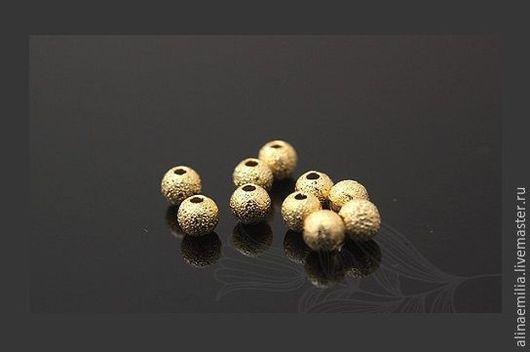 Для украшений ручной работы. Ярмарка Мастеров - ручная работа. Купить Бусина-шарик 2.7мм (Gold Plated) Южная Корея. Handmade.