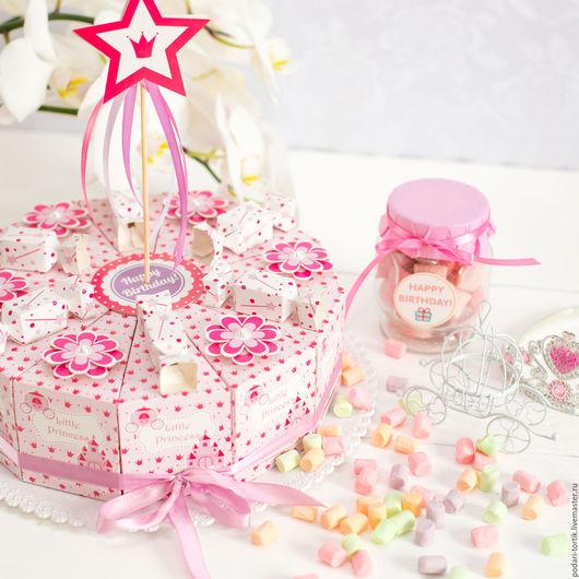 """Праздничная атрибутика ручной работы. Ярмарка Мастеров - ручная работа. Купить Торт """"Little Princess-2"""". Handmade. Торт из бумаги"""