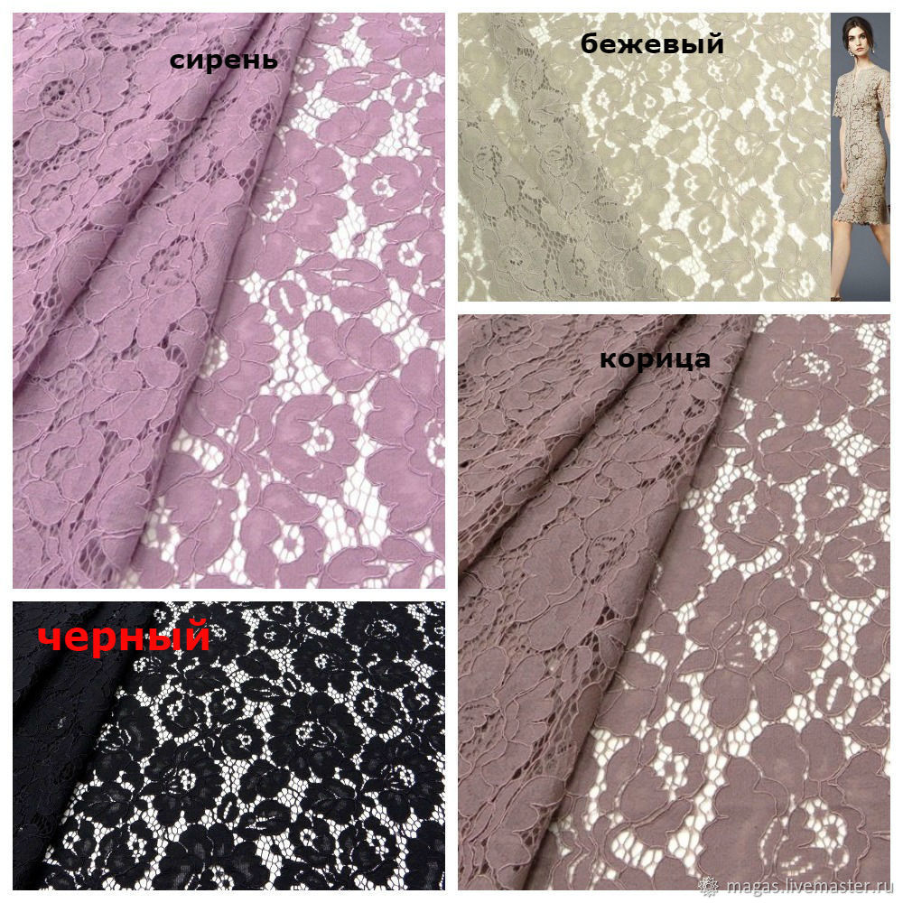 LACE FABRIC COTTON IN STOCK, Fabric, Moscow,  Фото №1