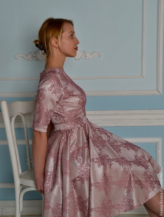 Платья ручной работы. Ярмарка Мастеров - ручная работа. Купить Платье Элегант. Handmade. Розовый, весенняя мода, платье на выход