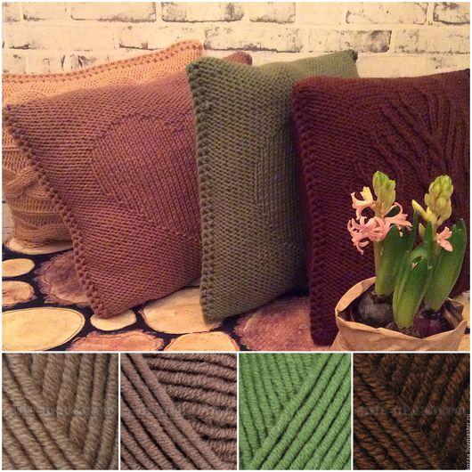 Текстиль, ковры ручной работы. Ярмарка Мастеров - ручная работа. Купить Вязаные подушки Kozaa's Bags. Handmade. Комбинированный