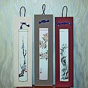 Для дома и интерьера ручной работы. Ярмарка Мастеров - ручная работа Картина на стену - танзаку. Handmade.
