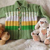 Работы для детей, ручной работы. Ярмарка Мастеров - ручная работа Джемпер для мальчика ручной вязки. Handmade.