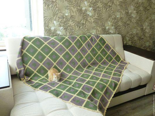 Текстиль, ковры ручной работы. Ярмарка Мастеров - ручная работа. Купить Плед. Handmade. Плед, плед на выписку