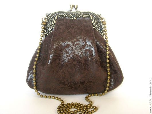 """Женские сумки ручной работы. Ярмарка Мастеров - ручная работа. Купить Cумочка  из  кожи """"Шоколадная""""(сумка коричневая, вечерняя сумочка,кожа. Handmade."""