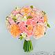 Свадебные цветы ручной работы. Ярмарка Мастеров - ручная работа. Купить Свадебный букет невесты с английской розой из полимерной глины. Handmade.