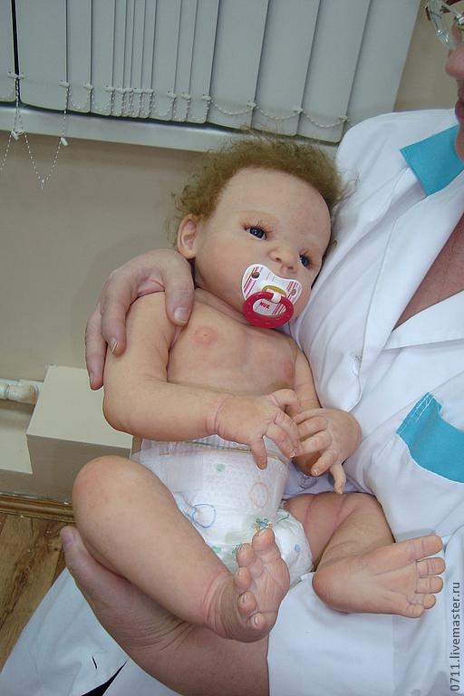 Куклы-младенцы и reborn ручной работы. Ярмарка Мастеров - ручная работа. Купить кукла реборн виктория.. Handmade. Бежевый