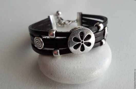 """Браслеты ручной работы. Ярмарка Мастеров - ручная работа. Купить Кожаный браслет """"Florence"""". Handmade. Коричневый, кожа натуральная"""