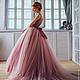"""Платья ручной работы. Ярмарка Мастеров - ручная работа. Купить Платье """" Пудра"""". Handmade. Бледно-розовый, красота, шифон"""