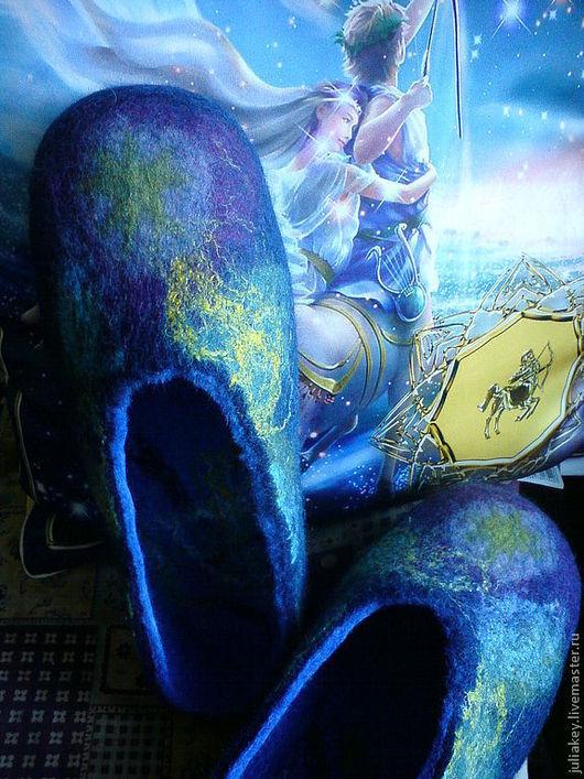 Обувь ручной работы. Ярмарка Мастеров - ручная работа. Купить Тапочки Сны о путеводной звезде или фантазии во сне. Handmade.