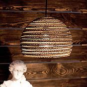 Для дома и интерьера ручной работы. Ярмарка Мастеров - ручная работа Подвесной светильник из гофрокартона - Большая полусфера. Handmade.