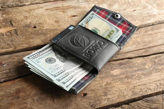 Кошельки и визитницы ручной работы. Ярмарка Мастеров - ручная работа. Купить Мини кошелек из натуральной кожи. Бумажник размером с кредитку. Handmade.