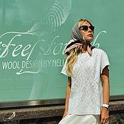 "Одежда ручной работы. Ярмарка Мастеров - ручная работа Блузка валяная ""Bianco"". Handmade."