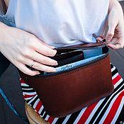 Сумки и аксессуары handmade. Livemaster - original item Pouch belt womens leather ANDRASSY. Handmade.