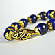 Bracelet with lapis lazuli stone the `Blue gold`