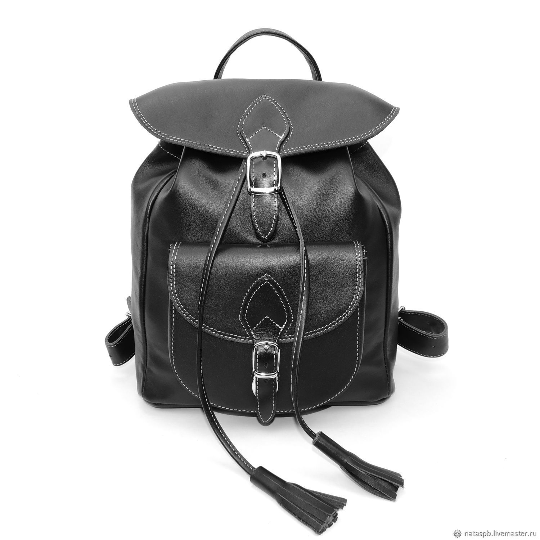 fb21b8f985b1 ... Рюкзаки ручной работы. Кожаный женский черный рюкзак 'Лоретта'. Калиновская  Наталья Рюкзаки Сумки ...