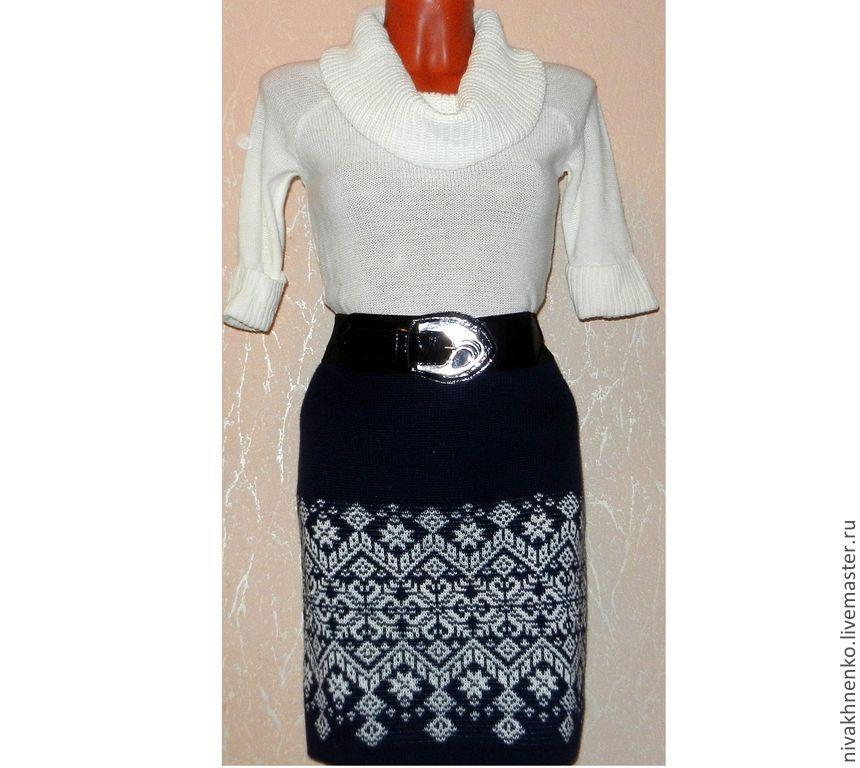 Skirt knitted Starfall (Norwegian jacquard), Skirts, Moscow, Фото №1