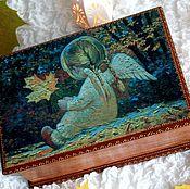 """Для дома и интерьера ручной работы. Ярмарка Мастеров - ручная работа Шкатулка """"Я ангела к тебе послала..."""". Handmade."""