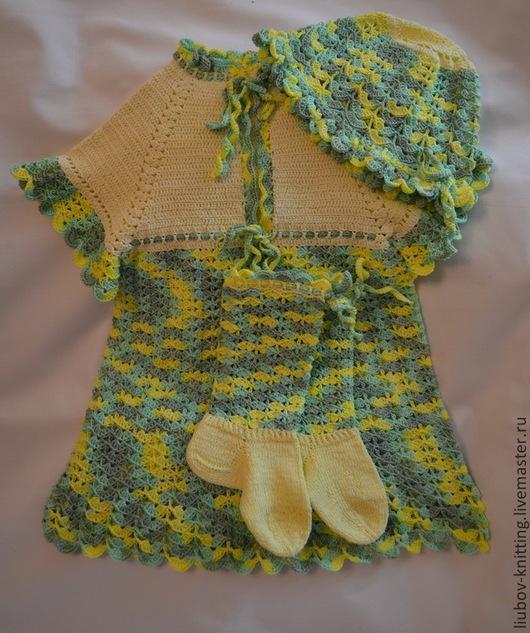 """Одежда для девочек, ручной работы. Ярмарка Мастеров - ручная работа. Купить Комплект для девочки """"Летнее настроение"""". Handmade. Платье"""