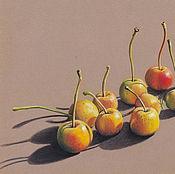 Картины и панно ручной работы. Ярмарка Мастеров - ручная работа картина пастелью Золотые яблочки. Handmade.