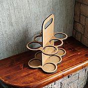 Подарки к праздникам handmade. Livemaster - original item Carrying for drinks (collapsible). Handmade.