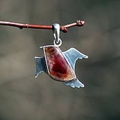 Украшения handmade. Livemaster - original item Pendant silver multi-quartz Sparrow in flight. Handmade.