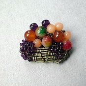 Украшения handmade. Livemaster - original item Brooch fruit Basket. Handmade.