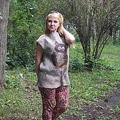 Одежда ручной работы. Ярмарка Мастеров - ручная работа Валяная туника Совунья. Handmade.