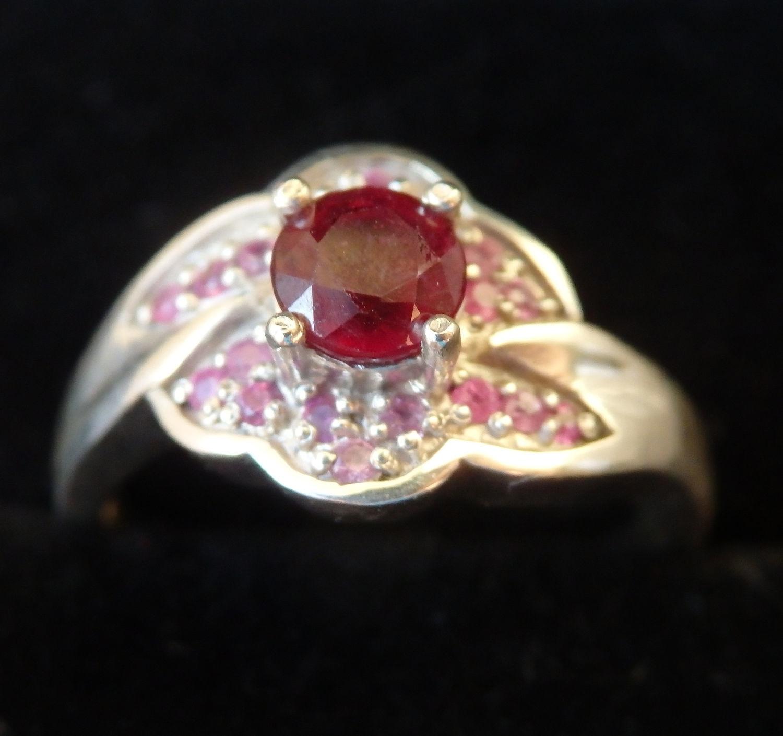 Кольцо с рубином и сапфирами, Кольца, Балашиха,  Фото №1