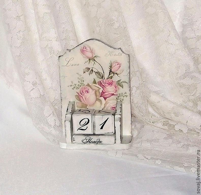 """Вечный календарь шебби шик  """" Розовый зефир"""", Calendars, ,  Фото №1"""