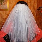 Свадебный салон ручной работы. Ярмарка Мастеров - ручная работа Фата для девичника белая 2-ух слойная, фата для невесты. Handmade.