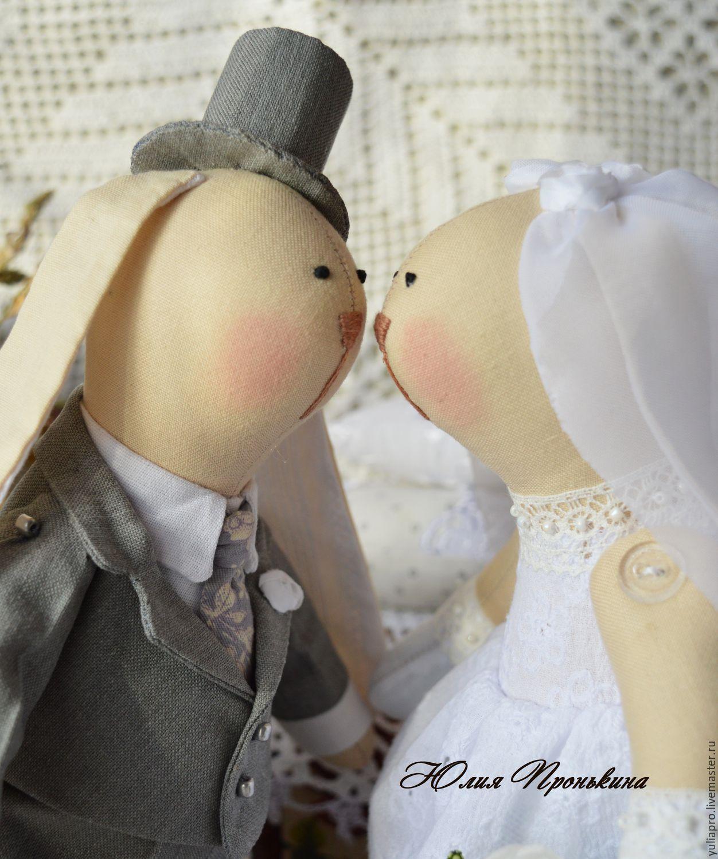 Свадебные зайцы тильда - подарок на свадьбу, юбилей свадьбы, годовщину, Тильда Зверята, Мончегорск,  Фото №1