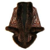 Аксессуары handmade. Livemaster - original item Scarf with fur Spanish. Handmade.
