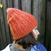 Шапки ручной работы. Ярмарка Мастеров - ручная работа Шапки: Осенняя шапка-бини. Handmade.