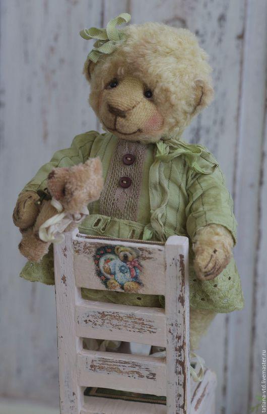 Мишки Тедди ручной работы. Ярмарка Мастеров - ручная работа. Купить Фифи. Handmade. Салатовый, мишка ручной работы, мишутка