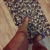Для дома и интерьера handmade. Livemaster - original item Mat massage pebble,, combo ,,. Handmade.