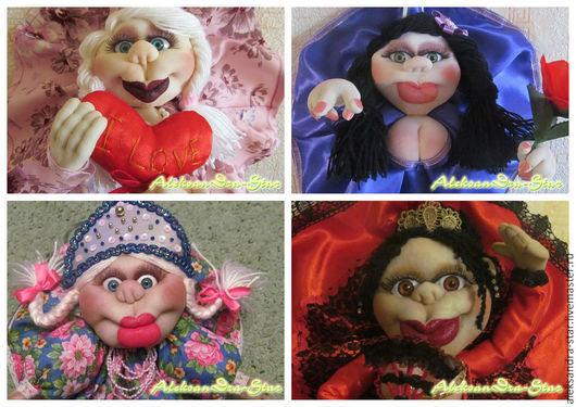 Человечки ручной работы. Ярмарка Мастеров - ручная работа. Купить Кукла-попик на удачу. Handmade. Разноцветный, оригинальный подарок