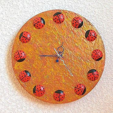 For home and interior handmade. Livemaster - original item Watch ladybugs, handmade watches. Handmade.