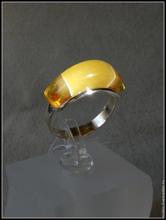 """Кольца ручной работы. Ярмарка Мастеров - ручная работа. Купить Кольцо """"А"""" янтарь в серебре. Handmade. Разноцветный"""