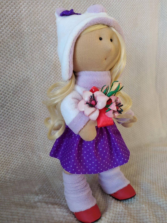 Кукла интерьерная Фиалочка. Большеножка, Большеножка, Бердск,  Фото №1