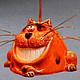 Колокольчики ручной работы. Ярмарка Мастеров - ручная работа. Купить Кот чеширский колокольчик. Handmade. Керамика, кот, колокольчики керамические