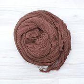 Работы для детей, handmade. Livemaster - original item A gauze wrapping for the photo shoot newborn brown. Handmade.