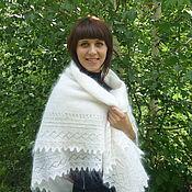 Аксессуары handmade. Livemaster - original item 47 - the Orenburg downy shawl white crochet shawl,accessories. Handmade.