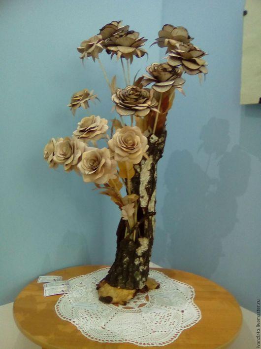 Цветы ручной работы. Ярмарка Мастеров - ручная работа. Купить Роза. Handmade. Бежевый, уникальный подарок