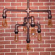 Люстры ручной работы. Ярмарка Мастеров - ручная работа Потолочный светильник-люстра в стиле Лофт (Loft), Индастриал, Стимпанк. Handmade.